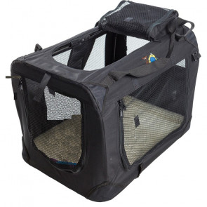 Cosmic Pets Collapsible Pet Carrier-Black