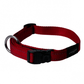 Rogz Utility Side Release Reflective Dog Collar-Red