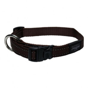 Rogz Utility Side Release Reflective Dog Collar-Brown